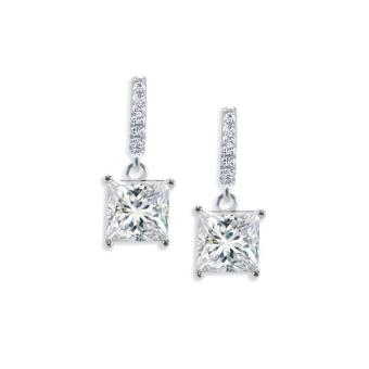 Smythe & Co. 925Silver Dangling Solitaire Princess Earrings Price Philippines