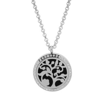 Snowflake Round Essential Oil Diffuser Necklace Young Living Aromatherapy - intl