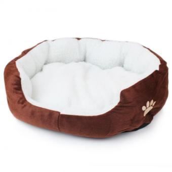 Soft Large Pet Bed Affinity Dogs Supplies (Brown) - intl
