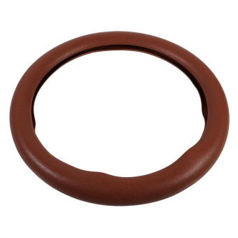 Soft Silicone Auto Car Steering Wheel Cover Shell Brown - intl - 3