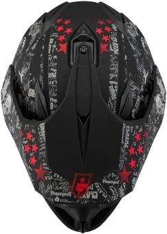 SOL Dual Sport Motard SS-1 PG Motorcycle Helmet (Glossy Black/Red) - 5