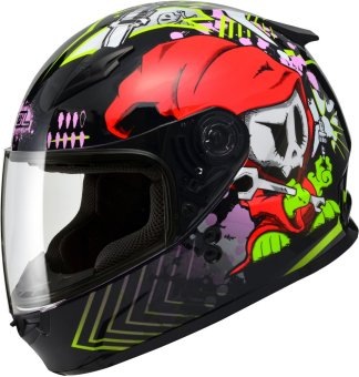 SOL FullFace SF-2 Spark Motorcycle Helmet (Black/Red)