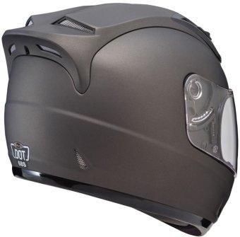 SOL FullFace SL68S-II Solid Motorcycle Helmet (Matte Darker Silver/Silver) - 2