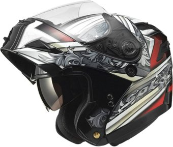 SOL Modular SM-1 SkyWalker Motorcycle Helmet (Black/Red)