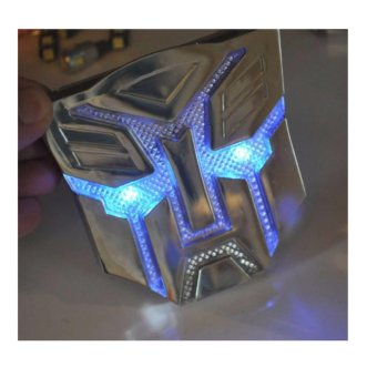Solar LED Flash Light Transformers 3D Autobot Car Emblem Badge Decal Sticker