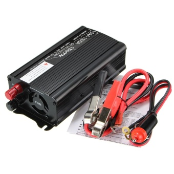 Solar Power Inverter 1500W Peak 12V DC To 220V AC Modified Sine Wave Converter Black - intl
