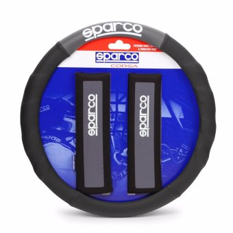 Sparco SPC1111KGR Steering Wheel Cover and Shoulder Pads