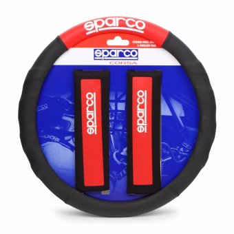 Sparco SPC1111KRS Steering Wheel Cover and Shoulder Pads