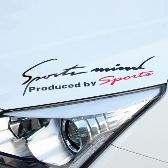 Sports Mind Car Sticker On Lamp Eyebrow Vinyl Graphic DecorationPegatinas (black) - intl Price Philippines