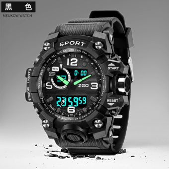 Sports Stylish male student multi-functional waterproof electronic watch