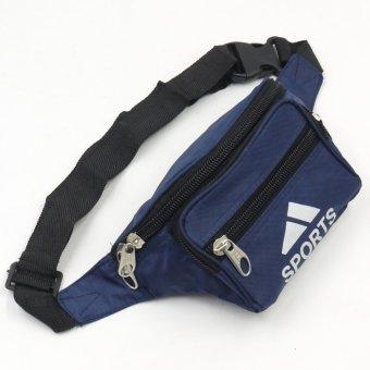 Sports Unisex Outdoor Compact Security Money Waist Belt Bag (Navy Blue) - picture 2