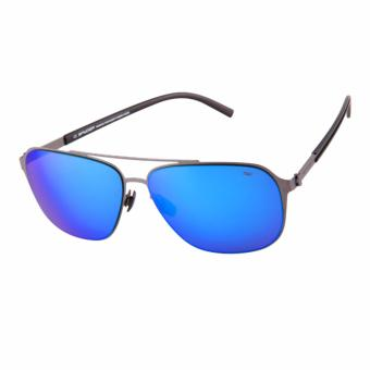 Spyder Lifestyle Eyewear AXL 4S050 PCM (Matt titanium grey frame/revo blue lenses) - 2