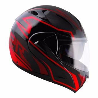 Spyder Modular with Dual Visor Helmet Delta GD 363 (Black/Red) Price Philippines