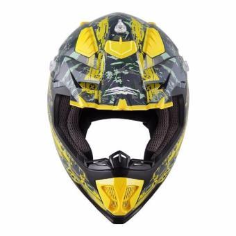 Spyder Motocross Helmet Brawl G 483 (Green/Yellow)-Large - 2