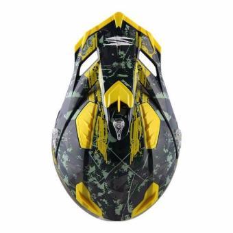Spyder Motocross Helmet Brawl G 483 (Green/Yellow)-Large - 4
