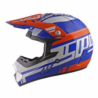 Spyder Motocross Helmet Dirt G 795 (White/Blue/Orange) -Medium - 5