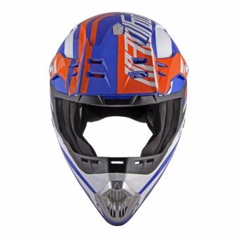 Spyder Motocross Helmet Dirt G 795 (White/Blue/Orange) -Medium - 2