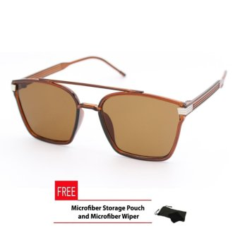 Square Aviator Sunglasses Unisex Brown Frame with Blue Lens_Avi_976 Price Philippines
