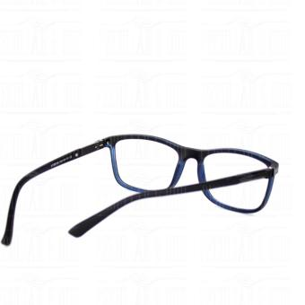 Square Clear Lens Replaceble Eyeglass with Spring Hinges Unisex_E126_BlackBlue - 5