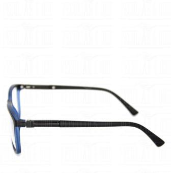 Square Clear Lens Replaceble Eyeglass with Spring Hinges Unisex_E126_BlackBlue - 4