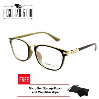 Square Clear Lens Replaceble Eyeglass_P3006_BLACKGREEN OpticalFrame Replaceable Lens - Unisex Price Philippines