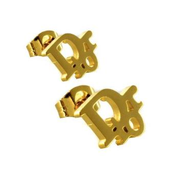 """SS149 Stainless Steel """"Dior"""" Gold Earrings - 2"""