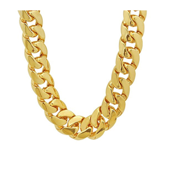 Stainless Steel 10mm Men's Cuban Curb Chain Link Necklace (GoldPlated)