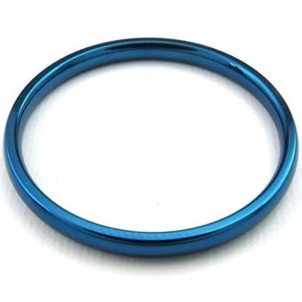 Stainless Steel 2 Comfort Fit Bands Blue (Intl) - picture 2