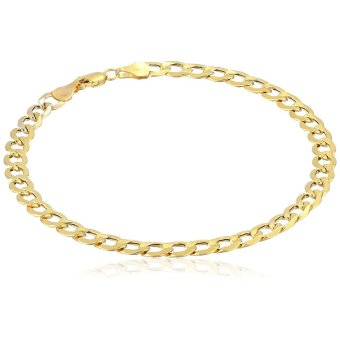 Stainless Steel 5mm Cuban Curb Chain Bracelet (Gold Plated)