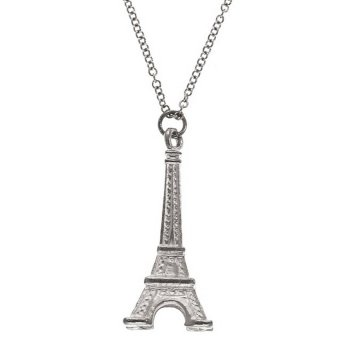 Stainless steel eiffel tower pendant necklace silver lazada ph stainless steel eiffel tower pendant necklace silver aloadofball Images