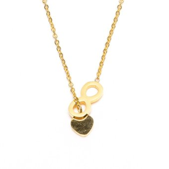 Stainless Steel Heart Infinity Necklace (Gold) Price Philippines