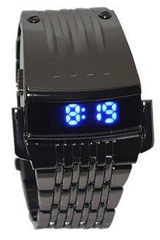 Stainless Steel LED Digital Black Mens Watch
