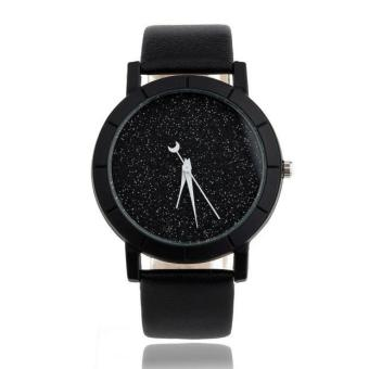 Star Minimalist Fashion Watches For Lovers Leather Strap Watch -intl