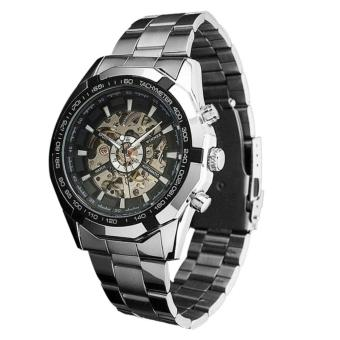 Steampunk Clock Mens Automatic Mechanical Men Wrist Watch - intl