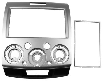 Stereo Radio Dash Mount Trim Panel Kit for Ford Everest 2006-2013(Silver)