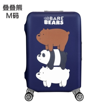 Stretchable Elastic Travel Luggage Suitcase Baggage ProtectiveCover(M) - intl Price Philippines