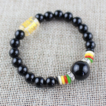 Stylish guy's Shishang European and American popular Japanese and Korean style bracelets lucky beads