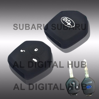 Subaru Forester Soft Silicon Car Key Remote Holder S-17 (High Quality)