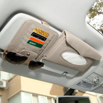 SUN car sun visor pumping tissue box car mounted glasses card clip