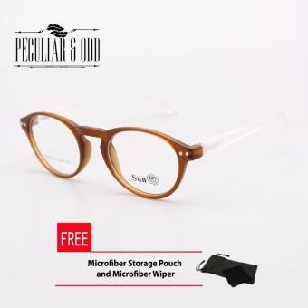 SUN Eyeglasses Replaceable Lens Sun_A213_BROWN Optical Frame