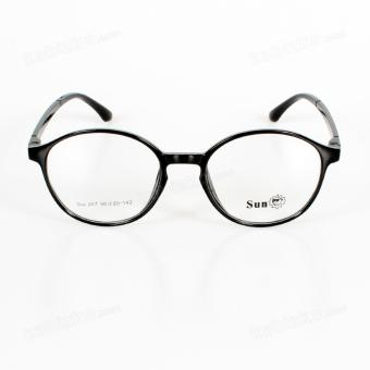 Sun Round Sunglasses Unisex Eyewear Glossy Black - 2