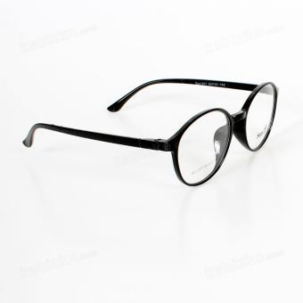 Sun Round Sunglasses Unisex Eyewear Glossy Black - 4