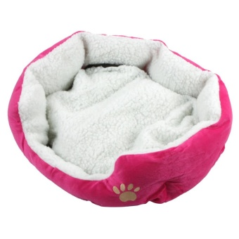 Super Cute Soft Cat Bed Winter House for Cat Warm Cotton Dog - RoseRed S - intl