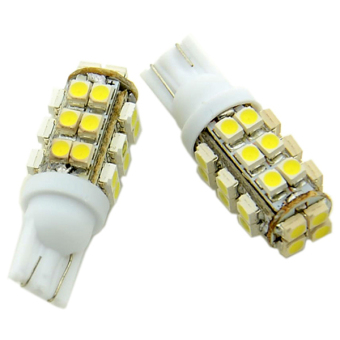 SuperCart T10-SMD 3528 LED Car Side Wedge Lamp White - Intl