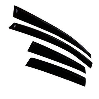 Hyundai EON 2012 2017 Rain Visor Rain Guard With Logo Set Of 4(Black