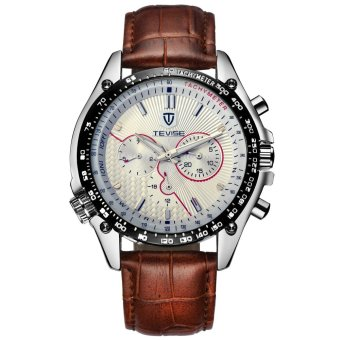 Swiss Men Watch Automatic Mechanical Mens Business Watches Leather Strap - intl