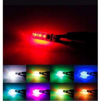 T10 sillicone Car Park light LED bulbs with Remote Control(Multicolor) - 5