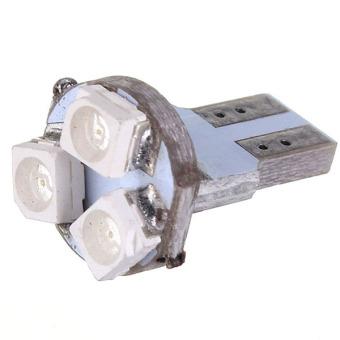 T5 3 LED 3528 SMD Car Wedge Light DC12V Blue Set of 6