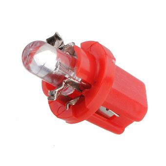 T5 B8.5D Car LED Speedo Dashboard Light DC12V Set of 5 (Red)