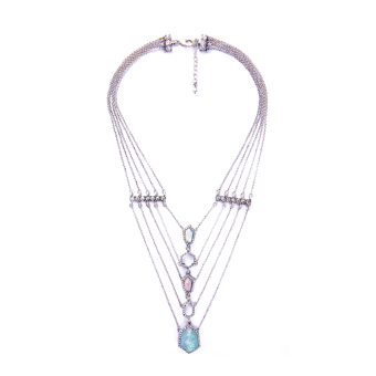 Tanabata European and American multi-layer long necklace
